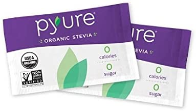 Pyure Organic Stevia Sweetener Packets, Granulated Sugar Substitute, 1000 Count