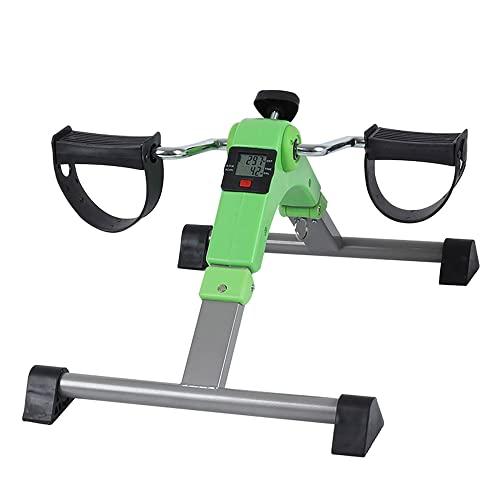 Ejercitador de pedal,Pedalier Brazos y Piernas para ejercicio de la parte superior e inferior del cuerpo,equipos de rehabilitación de fitness para personas mayores/green / 52x35.5x24cm