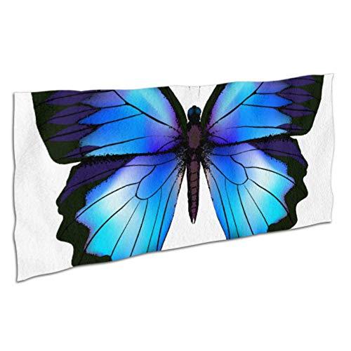 JIUCHUAN Handtücher Mikrofaser farbig Schöne Schmetterling Elegant Strandtuch Badetücher Mikrofaser Super Wasserabsorbierend Hautfreundlich für Reisen, Strand, Schwimmen, Bad, Camping und Picknick