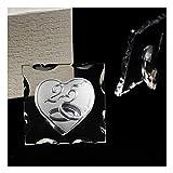 dlm31767 icona in vetro quadretto con cuore fedi nuziali 25 anniversario nozze d'argento venticinquesimo matrimonio bomboniera