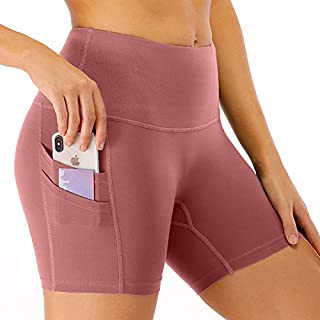 Sika Women's Compression Shorts – Tummy Control Biker Shorts with Double Pockets