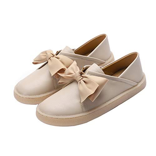 Vrouwen Strik Platform Loafers Mode Ronde Neus Ondiepe Mond Platte Schoenen Casual Instappers Mocassins Ademend Wandelen Chunky Enkele Schoenen