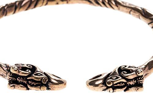 WINDALF Frauen Asatru Armreif HUGIN & MUNIN Ø 6.2 cm Odins Raben Wikingerschmuck Hochwertige Bronze