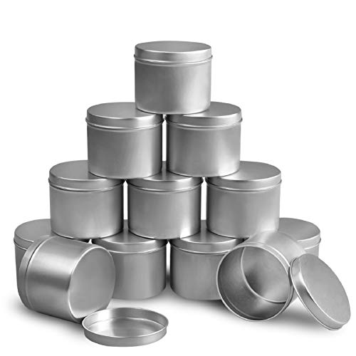DINGPAI Candle Tin 8oz, Candle Containers for Candle Making, 12 Piece
