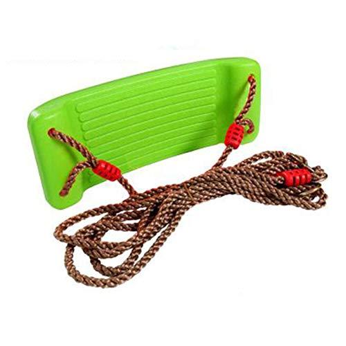 Columpio Asiento De Columpio con Kit De Suspensión, Columpio De Juguete para Niños De Jardín Interior Y Exterior, Rodamiento De 100 Kg (Color : Green)