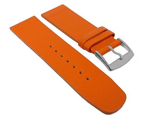 Graf Manufaktur Spree Damen Ersatzband Uhrenarmband Leder Band Orange 27096S, Stegbreite:24mm