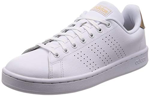 adidas Advantage, Chaussures de Fitness Femme, Blanc (Ftw Bla/Ftw Bla/Co B Met 000), 39 1/3 EU