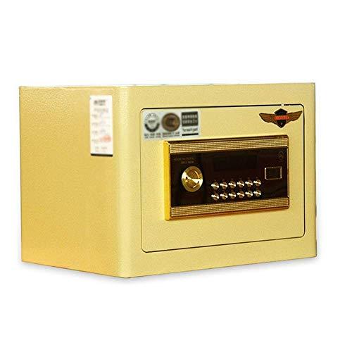 AOIWE PNBRAES Safe Safe Office 3C Certified Home 25 cm en la Pared en el gabinete Mini Cama Cajas de Seguridad seguras para el hogar (Color : Yellow, Size : One Size)