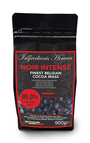 Ingredients Heaven - Noir Intense 96.0% - Feinste Belgische Kakaomasse - Finest Belgian Cocoa Mass - 900g