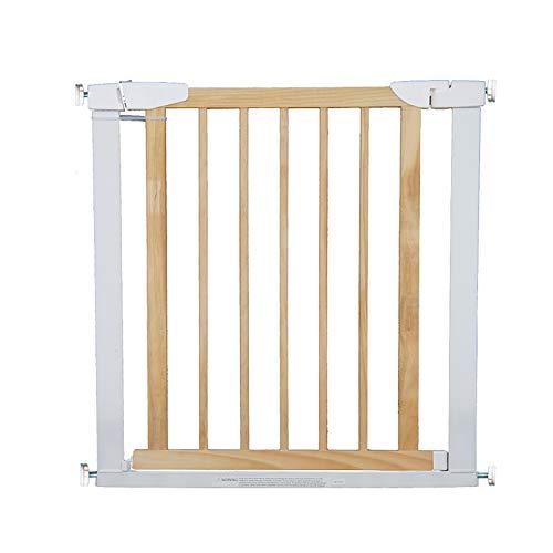 Treppenschutzgitter Holz Baby Gate, Druckmontierte Pet Gate 75-82 cm Breite Zweiwege Offen , Weiß