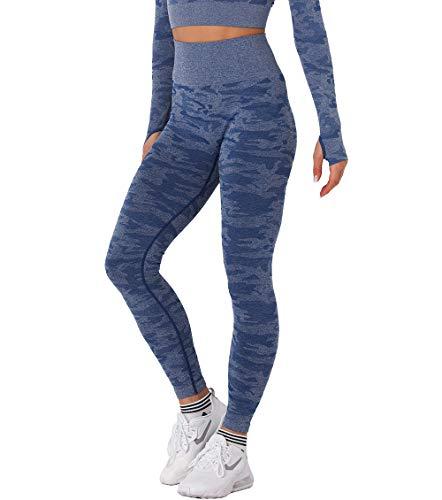 KIWI RATA Mallas Push Up Mujer Deporte Leggings Camuflaje sin Costuras Yoga...
