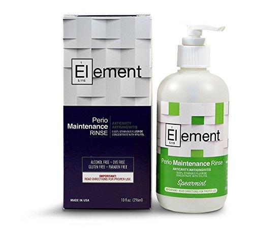 """""""Element"""" 10 Fl. Oz. 0.63% Stannous Fluoride Antimicrobial Perio Rinse Mouthwash - Spearmint Flavor"""
