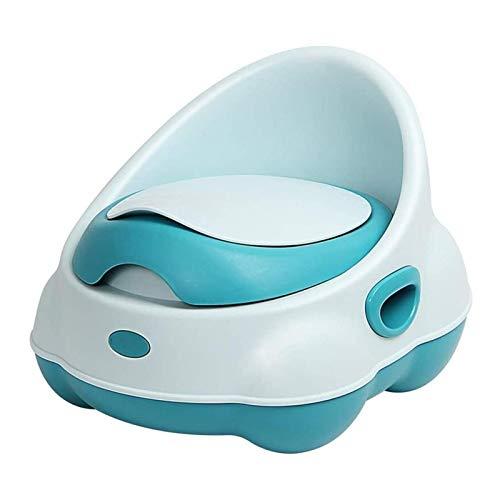 AITAOZI Silla de Entrenamiento para niños para niños para niños y niñas, manijas y protección contra Salpicaduras: Asiento cómodo para (Color : Green)