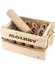 [ モルック ] MOLKKY 玩具 アウトドアスポーツ おもちゃ モルック Molkky Finnish Wooded ゲーム スキットル 木製 外遊び レジャー [並行輸入品]