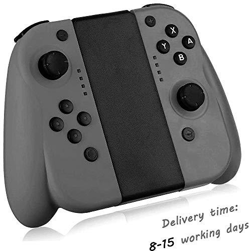 Seeksung Mando para Switch, Gamepad Inalámbrico Bluetooth con Giroscopio de 6 Ejes y Doble Vibración para Nintendo Switch, Joystick Ergonómico Puede Reemplazar Joy con, Dark Grey