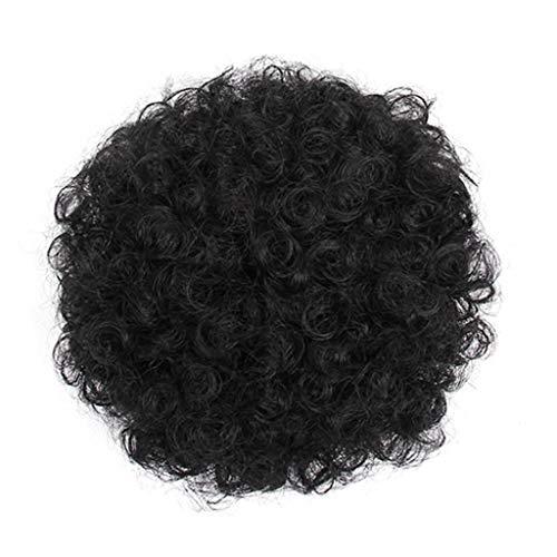 Femme Perruques Afro Cheveux Naturels pour Black Court Curly Wig TêTe Explosive Postiches BoucléS Perruque Adulte Masquerade Party Disc Club Remise Tresse AfricaineTWIOIOVE Accessoires de Cheveux