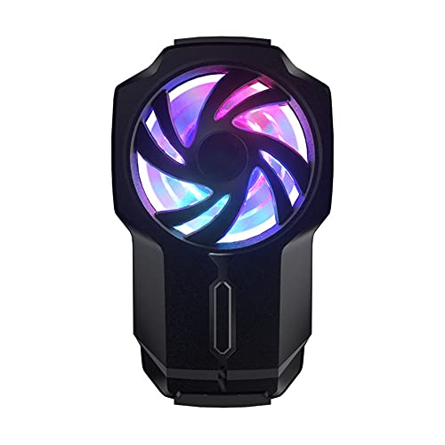 BAOZUPO Mobile Phone Radiator Three-speed Wind Adjustment, Colorful Lights, No Blocking Mobile Phone Semiconductor Cooler