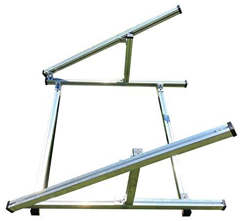 K38 Solar: Montagegestell, variable Aufständerung für ein Stecker Solar Gerät bzw. Balkonkraftwerk auf Flachdächern, Freiland, Garten usw.