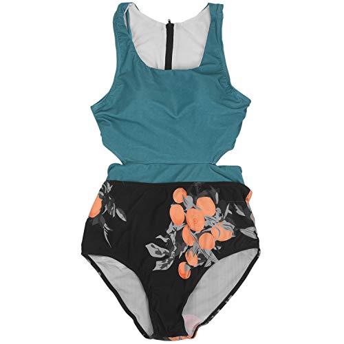 Basage Grüner Druck Einteiliger Bade Anzug Frauen Gebunden Bogen Ausschnitt Bikini M?dchen Strand Bade Anzug Bade Mode L