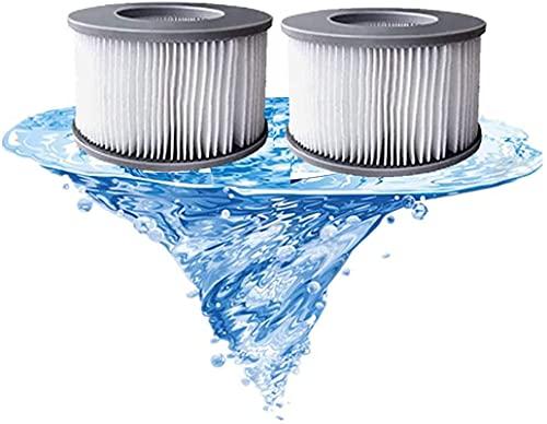 LXTOPN - Set di 2 filtri MSpa per Jacuzzi, cartucce di ricambio per filtro dell'acqua MSPA, per sottomarini e spa calde, per piscine gonfiabili (2 pezzi)