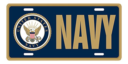 Tags Military U.S. Navy License Plate, Front Tag