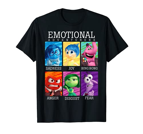 Disney Pixar Inside Out Emotions Yearbook Group T-Shirt T-Shirt
