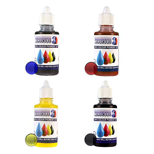 Monocure3D 3DP-CMYK-SET CMYK Pigment Set Farben für DLP/SLA 3D Drucker Resin, 4x 30ml