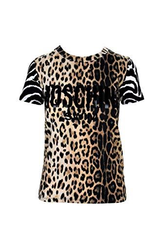 Moschino Couture! 2T1914 - Camiseta para mujer Negro/Beige M