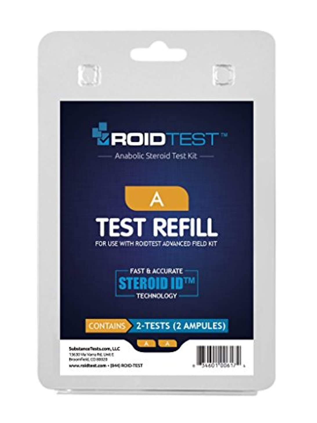 Substance Test A - ROIDTEST Refill (2 Tests)