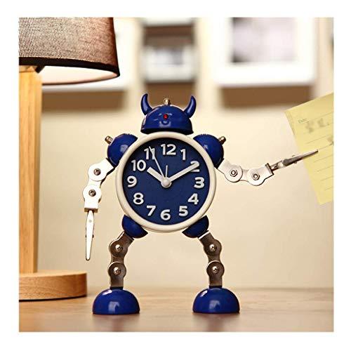 Reloj De Sobremesa Reloj De Escritorio, Robot De Deformación Alarma Estudiante Creativo Alarma Pequeña Niños Lindos Alarma De Dibujos Animados Mesa De Alarma De Metal Hogar Al Aire Libre (Color: B)