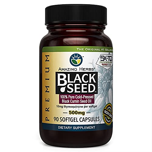 Hierbas asombrosas Aceite Negro Prem 0.018 oz de semillas, No Model, 1 botella, 1