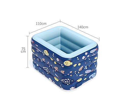 TANERDD Piscina De La Casa Piscina Autoinflable Inalámbrica Estanque De Plástico PVC Al Aire Libre Piscina Casera para Bebés Y Niños,A,140cm