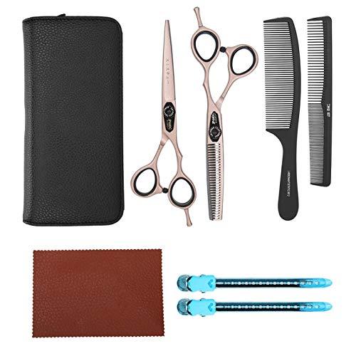 Tijeras para cortar el cabello, oro rosa, fuerte, portátil, duradero para salón, herramientas de peinado para peluqueros