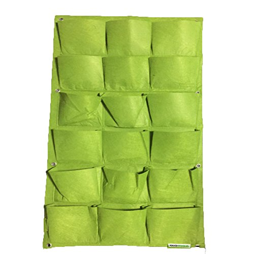 Vertical Garden Planter, Glovion Wall-mounted Planting Pouch Grow Bag for...