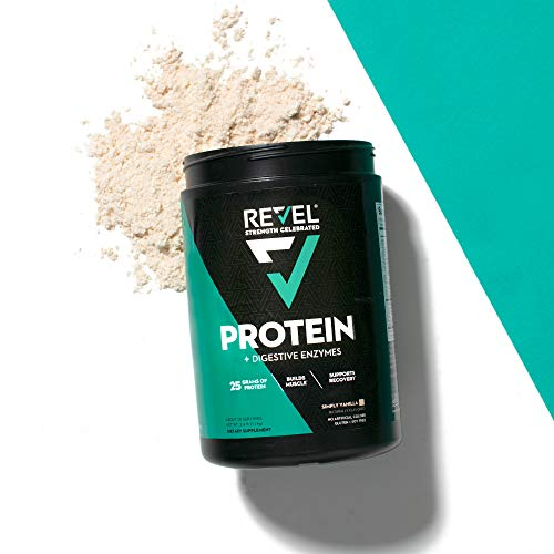 Revel Whey Protein Powder for Women | 25g Protein | Supports Weight Loss Metabolism Lean Muscle | 2lbs (Simply Vanilla)