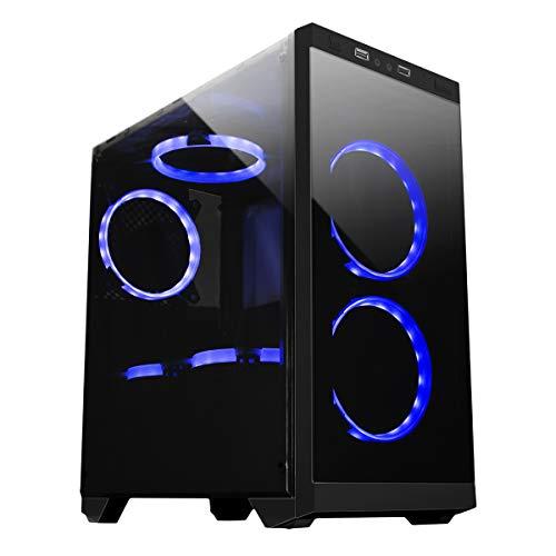 UNYKAch Armor C21 Torre Negro Carcasa de Ordenador - Caja de Ordenador (Torre, PC, SPCC, Micro-ATX, Negro, 0,5 mm)