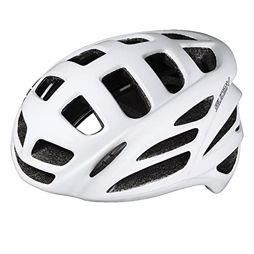 Suomy First Gun, casco de ciclismo por bicicleta de carreras, skateboard, ajustable, unisex, sistema de seguridad 'SMART STRAP', certificado CE, Blanco, talla L (59-62CM)