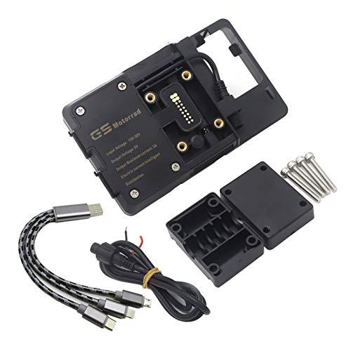 Lhtyouting Accesorios de motocicleta Soporte de navegación modificado Fibra de carbono Teléfono GPS para KAWASAKI Versys x300 x-300 hnlyt (Color : Navigation bracket)