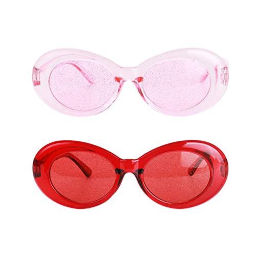 Colcolo 2 / Set Retro Red Pink Goggles Gafas Gafas de Sol