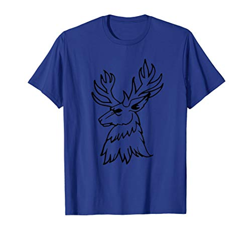 Cool Deer Head Silhouette Tattoo Gift Cute Nature Animal T-Shirt