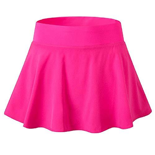 Sexy Verano De Las Mujeres Faldas Cortos Mini Falda De La Escuela De La Niña De Patinador De Tenis Falda De Cintura Alta Acampanado Sólido Mujer Falda