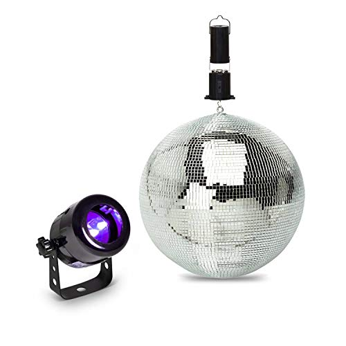Starterset LED UV koplamp + discobal 20 cm + motor