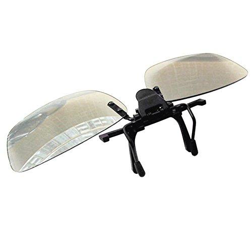 Docooler Gafas 3D Pasivas con Clip, Lentes Polarizadas Circulares Gafas 3D para...