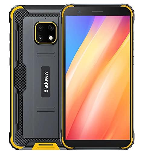 IP68 Móvil Resistente Blackview BV4900, Android 10 4G Telefono Antigolpes, 3GB RAM 32GB ROM Extensión de 256GB, Pantalla 5.7', Cámara Impermeable 5MP+8MP, NFC GPS Dual SIM,Batería 5580mAh Amarillo