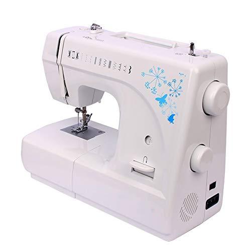 Vobajf Máquina de Coser Costura De Costura De Hogar Multifuncional Eléctrica Comer Grueso Pequeño Principiante para Niños Adultos (Color : White, Size : 35.5x16x26.5CM)