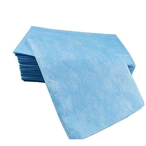防水シーツ 使い捨て 幅70cm×長さ170cm ベッドシート ディスポシーツ 20枚入り エステサロン用 マッサージ用 介護用 (ブルー)