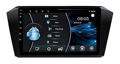 AEBDF Navegación GPS para Coche con Android 10, Reproductor Multimedia de Radio estéreo para Coche con GPS de 7'para VW Passat 2016, navegación,4 Core WiFi 1+16 (Ultra Thin)