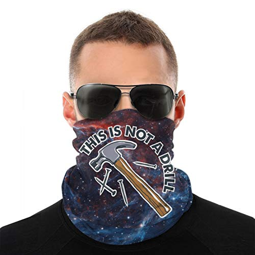 This is Not A Drill Unisex Multi-Functional Face Mask Windproof Dust Proof Neck Scarf Contain Inside Pocket Black