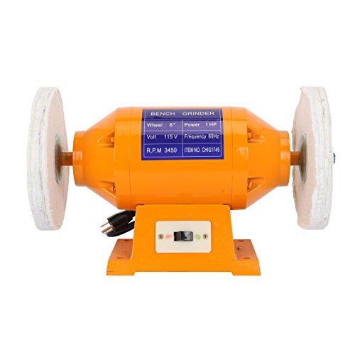 BEAMNOVA Electric Bench Grinder 8 inch Power Grinding Machine 3450rpm 1 HP
