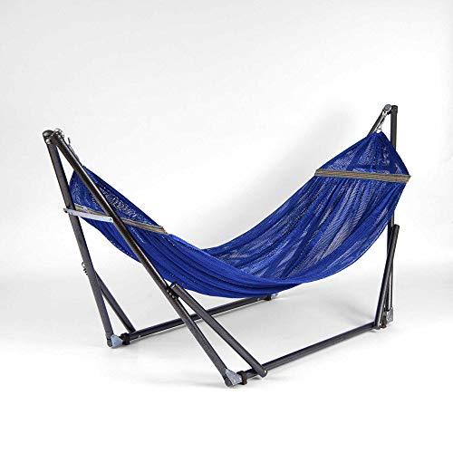 Best Home Fashion EZ Daze Portable Hammock with Stand - Blue